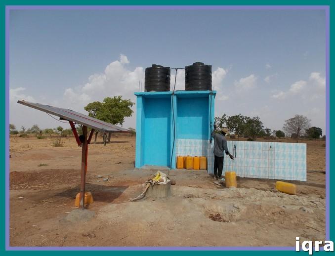 تركيب الخلايا الشمسية لتشغيل البئر